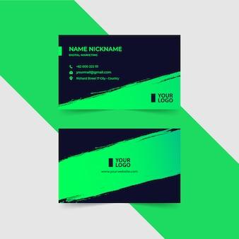Modern groen visitekaartje