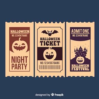 Modern halloween kaartjesconcept