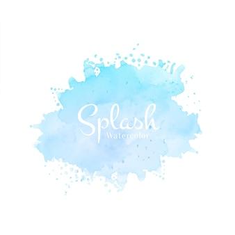 Modern hand getekend blauw aquarel splash ontwerp
