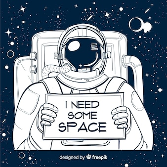 Modern hand getrokken astronautenkarakter