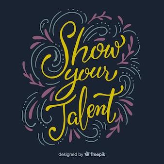 Modern hand getrokken talentconcept