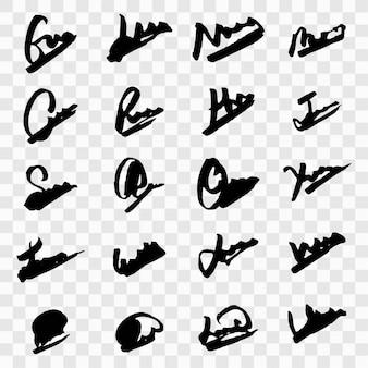 Modern handtekeningsontwerp