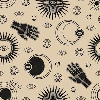 Modern heks naadloos patroon
