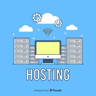 Modern hostingconcept