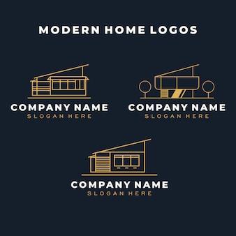 Modern huis logo sjabloon