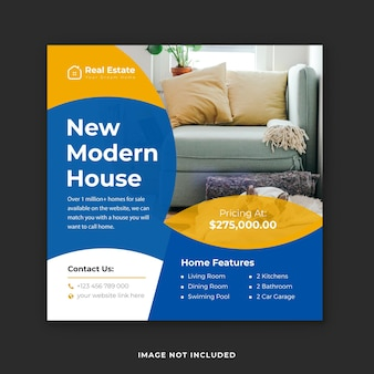 Modern huis verkoop instagram verhaal ontwerpsjabloon premium vector