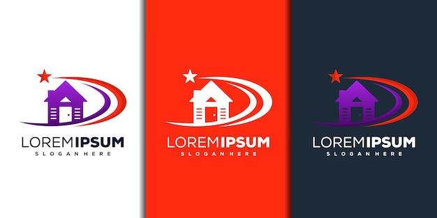 Modern huisster-logo-ontwerp