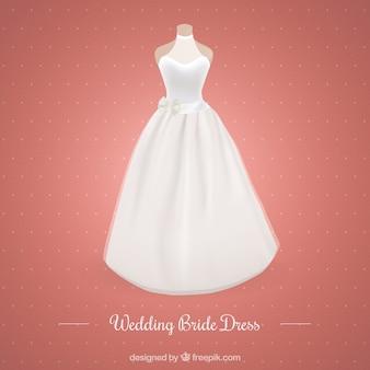 Modern huwelijk bruid jurk