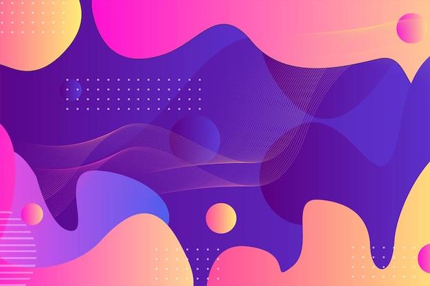 Modern illustratie achtergrondbehang vol vrolijke kleuren met straal