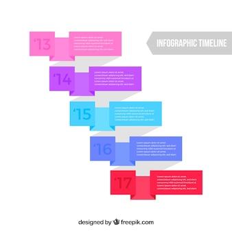 Modern infographic met vlak ontwerp