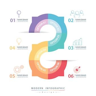 Modern infographic-ontwerp