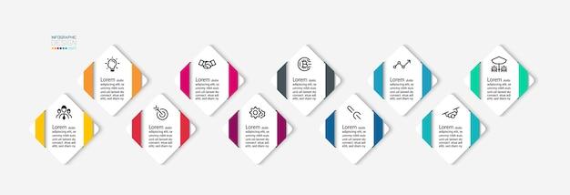 Modern infographic ontwerp