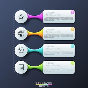 Modern infographic ontwerpsjabloon