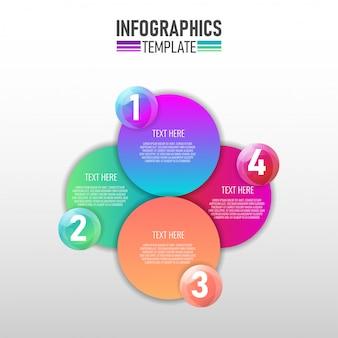 Modern infographic-sjabloon voor het bedrijfsleven