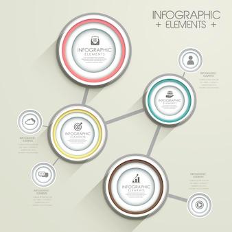 Modern infographic sjabloonontwerp met cirkelelementen