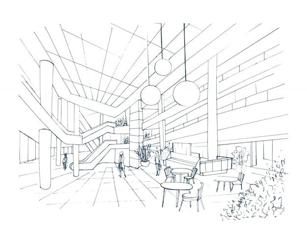 Modern interieur winkelcentrum