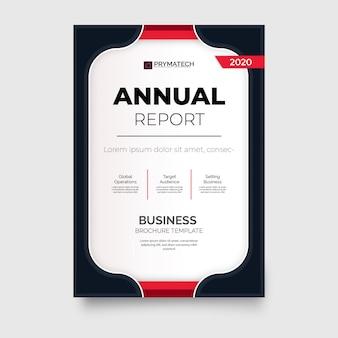 Modern jaarverslag brochure sjabloon met rode vormen