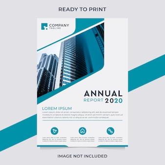 Modern jaarverslag business flyer sjabloonontwerp.