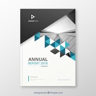Modern jaarverslag met afbeelding