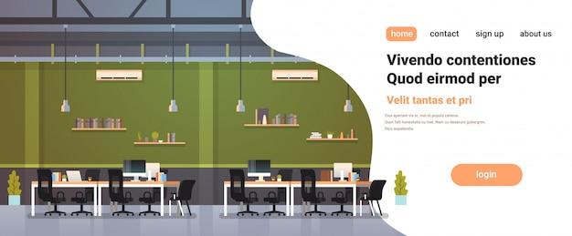 Modern kantoor interieur werkplek bureau creatief co-working center werkruimte