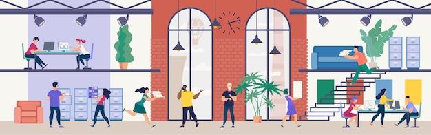 Modern kantoorwerk, timemanagement in het bedrijfsleven