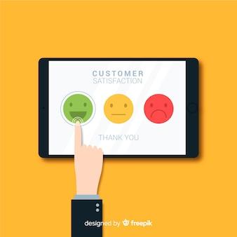 Modern klantentevredenheidsconcept