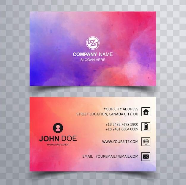 Modern kleurrijk visitekaartje