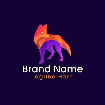 Modern kleurrijk vos merk logo - vos merk merk logo ontwerpsjabloon