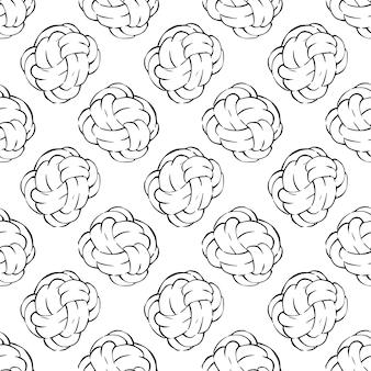 Modern knoopkussen overzicht doodle patroon.