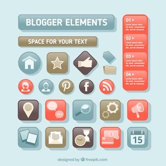Modern knoppen voor blog