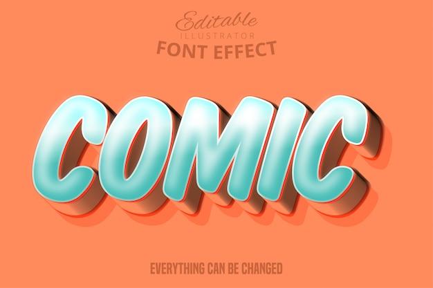 Modern komisch script bewerkbaar typografie lettertype effect
