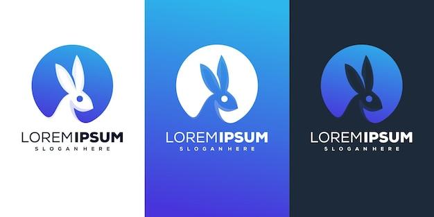 Modern konijn logo ontwerp