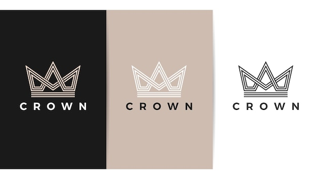 Modern kroonlogo koninklijke koning koningin abstract logo