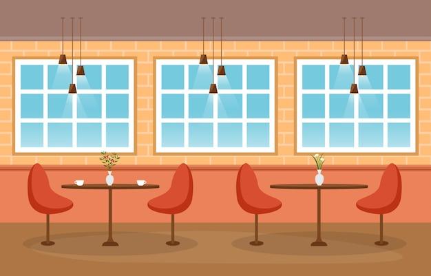Modern leeg café-restaurant