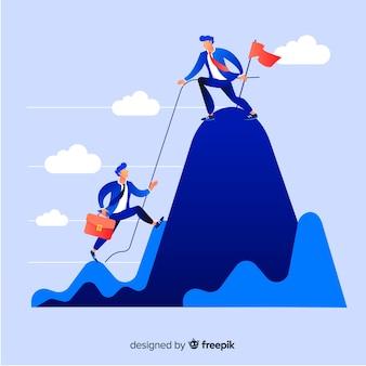 Modern leiderschap concept