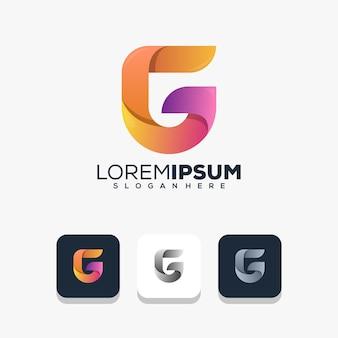 Modern letter g-logo-ontwerp