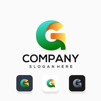 Modern letter g-logo ontwerp