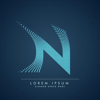 Modern letter n achtergrond