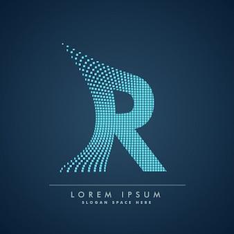 Modern letter r achtergrond