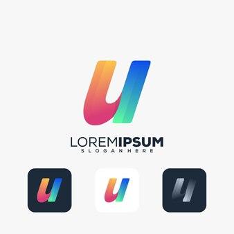Modern letter u-logo-ontwerp