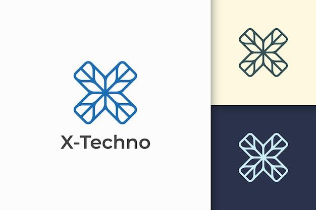Modern letter x-logo voor technologiebedrijf