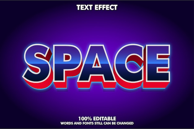 Modern lettertype-effect met gloeiende schaduw