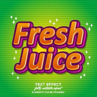 Modern lettertype-effect voor drankproducten