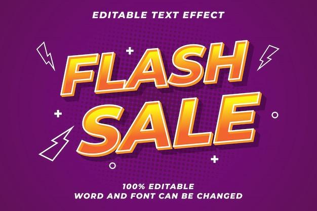 Modern lettertype-effect voor flash-verkoop