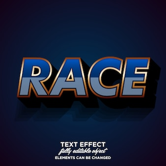 Modern lettertype effect voor race club sticker
