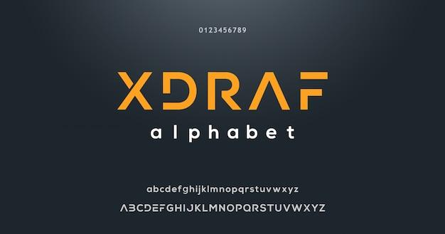 Modern lettertype-effect