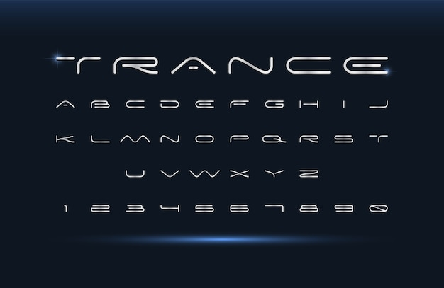 Modern lettertype. futuristisch vectoralfabet. brede abstracte letters