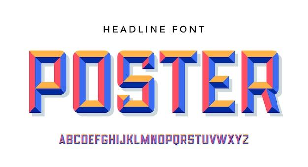Modern lettertype.