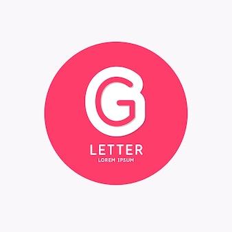 Modern lineair logo en teken de letter g