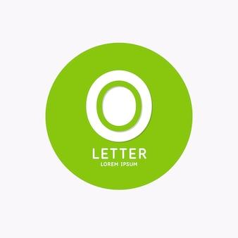 Modern lineair logo en teken de letter o
